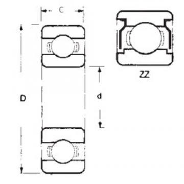 40 mm x 68 mm x 9 mm  FBJ 16008ZZ deep groove ball bearings